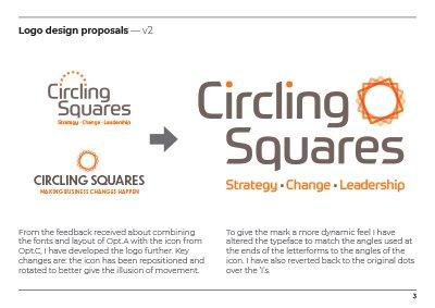 Circling Squares Logo Development