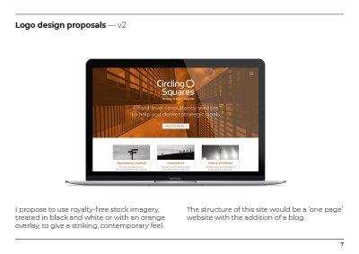 Circling Squares branding Development