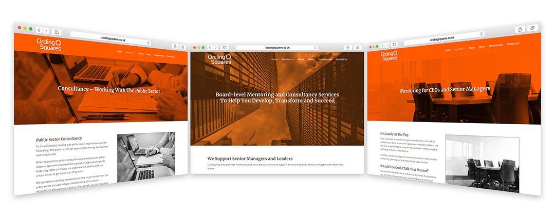 Circling Squares Web design