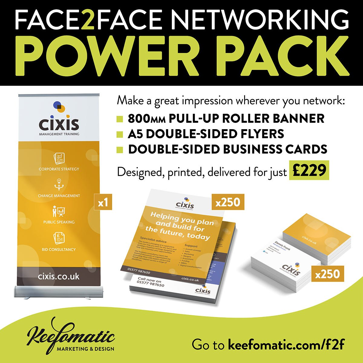 Face to face networking power pack